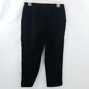 Chicos So Slimming Crop Pants Sz 0 Black Stretch